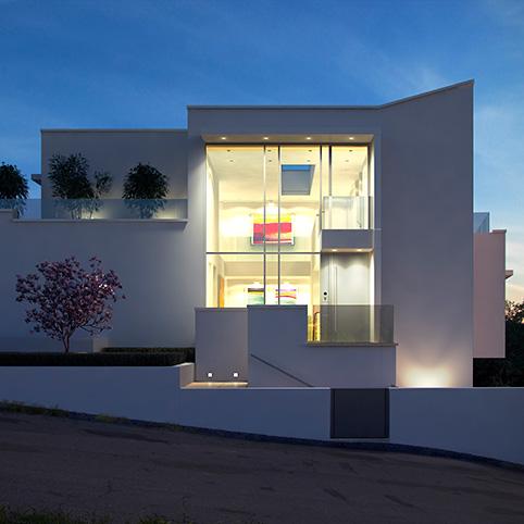 dibelius architekten moderne villen d11 schweiz. Black Bedroom Furniture Sets. Home Design Ideas