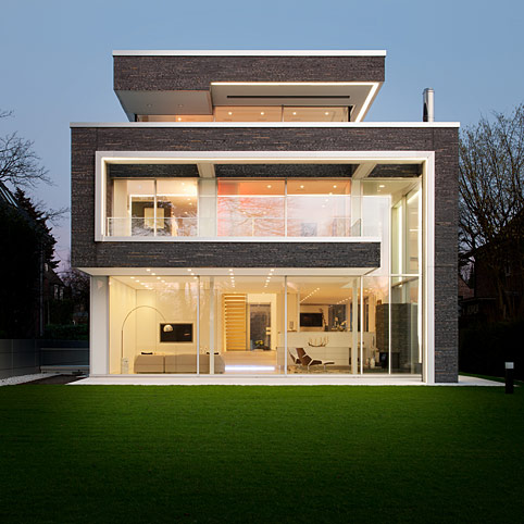 Dibelius architects modern villas villa linari hamburg for Moderne villen deutschland